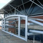 Bluestone canopy at the peel centre in Stockport, canopy was for a shopping centre.