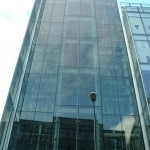 Support steel for glazing façade at Royal Bank of Scotland in Manchester – Client Sir Robert McAlpine
